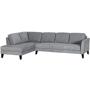 Parker Fabric Left Chaise Lounge Suite - Light Grey