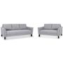 Parker Fabric 5 Seater Lounge Suite - Light Grey