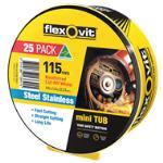 Flexovit 115 x 22.2 Ultra Thin Cut Off Wheel - 25 Pack