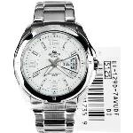 Casio Mens Silver SS Japanese Quartz Sport Watch