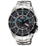 Casio Mens Edifice Black SS Quartz Fashion Watch