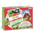 Melissa & Doug 4-in-1 Linking Floor Puzzle Farm 4x24pc