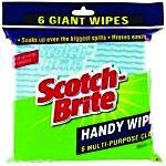 Scotch-brite Handy Wipes Giant Pk6