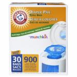 Munchkin Arm & Hammer Nappy Pail Snap, Seal and Toss Refill Bags, 900 Count, 30 Pack