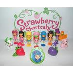 Strawberry Shortcake Deluxe Party Favors Goody Bag Fillers Set of 13 with 12 Figures and 1 Toyring with Raspberry Torte, Lemon Meringue and More!