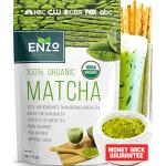 Matcha Green Tea Powder 4oz - Organic Strong Milky Taste USDA Certified - 137x Antioxidants Over Brewed Green Tea - Great for Latte, Smoothie, Ice Cr