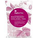 Raspberry Oolong Tea 3 oz, By Higher Tea (40 Cups) Certified Organic Premium Loose Leaf Tea