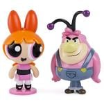 The Powerpuff Girls - 2 inch Action Dolls with Display Stands - 2-Pack - Blossom & Fuzzy Lumpkins