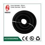 1m Inner Diameter 50mm Black High Temperature Flexible EVA Hose of Vac