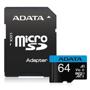 ADATA Premier UHS-I A1 V10 MicroSDXC Class 10 64GB