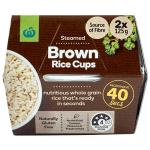 Countdown Brown Rice Microwave 2X125g cups 250g