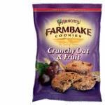 Arnott's Farmbake Cookies Crunchy Oat & Fruit bag 350g