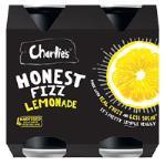 Charlies Honest Fizz Soft Drink Lemonade 1400ml (350ml x 4pk)