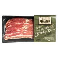 Hellers Streaky Bacon Danish Free Range 250g