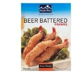 Pacific West Prawns Beer Battered Torpedos frozen 300g