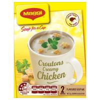 Maggi Soup For A Cup Instant Soup Creamy Chicken With Croutons 2pk