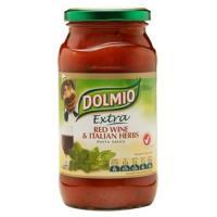 Dolmio Extra Pasta Sauce Red Wine & Italian Herb jar 500g