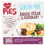 I Love Pies Gluten Free Frozen Pie Steak & Rosemary 170g