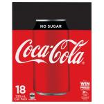 Coca Cola Soft Drink No Sugar 5940ml (330ml x 18pk)