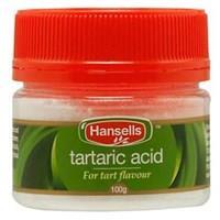 Hansells Tartaric Acid 100g