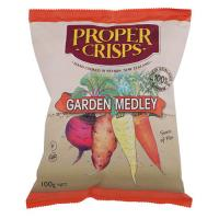Proper Crisps Vege Crisps Garden Medley 100g