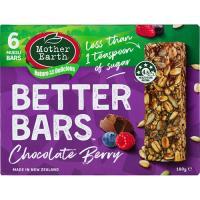 Mother Earth Better Bars Muesli Bars Choc Berry 180g
