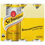 Schweppes Drink Mixers Indian Tonic Water 250ml cans 6pk