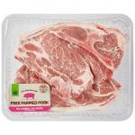 Countdown Free Farmed Pork Chops Bbq Shoulder min order 700g per 1kg