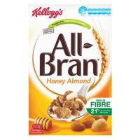 Kelloggs All Bran Cereal Wheat Flakes Honey Almond 420g