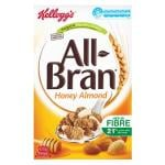Kelloggs All Bran Cereal Wheat Flakes Honey Almond 420g