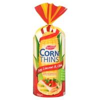 Real Foods Corn Thins Crackers Soy Linseed 150g