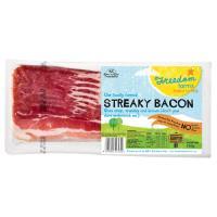 Freedom Farms Streaky Bacon Free Farmed 250g