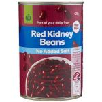 Countdown Beans Red Kidney No Added Salt can 420g