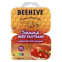 Beehive Pastrami Shaved Beef 2 X 50pks 100g
