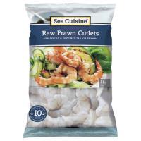 Sea Cuisine Prawns Vannamei Raw Cutlets frozen 1kg