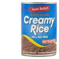 Aunt Bettys Rice 2 Go Creamed Rice Chocolate Creamy Rice 440g