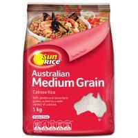 SunRice Medium Grain Rice Calrose White 1kg