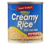Aunt Bettys Rice 2 Go Creamed Rice Vanilla Creamy Rice 220g