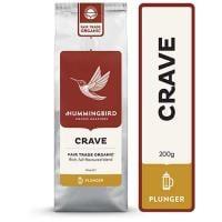 Hummingbird Crave Organic Plunger Grind Coffee 200g