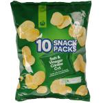 Countdown Potato Chips Salt Vinegar Crinkle Cut 180g  (18g x 10pk)