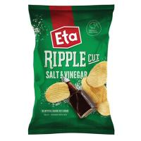 Eta Ripple Cut Potato Chips Salt & Vinegar 150g