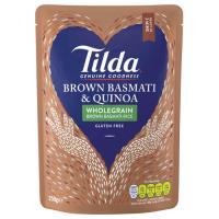 Tilda Steamed Rice Brown Basmati & Quinoa 250g