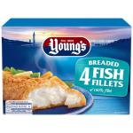 Youngs Fish Fillets Breaded 400g (100g x 4pk)