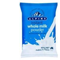 Alpine Milk Powder Whole 400g