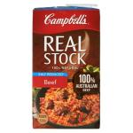 Campbells Real Stock Stock Beef Salt Reduced 1l