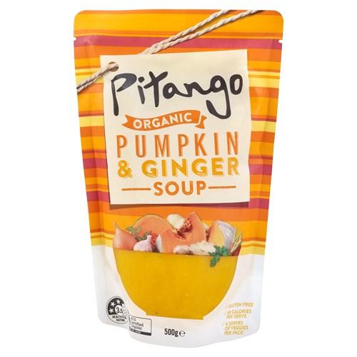 Pitango Organic Fresh Soup Pumpkin & Ginger pouch 500g