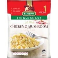 San Remo La Pasta Single Snack Pasta Dish Chicken & Mushroom 80g
