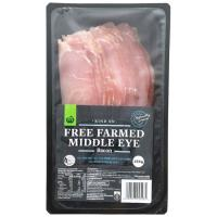 Countdown Middle Eye Bacon Rind On Free Farmed 250g
