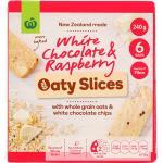 Countdown Oaty Slices Muesli Bars White Choc & Raspberry 240g (40g x 6pk)