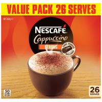 Nescafe Coffee Mix Strong Cappuccino 332g box 26 sachets